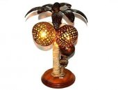 Dekoratif İkili Palmiye Ağacı Abajur Masa Lambası