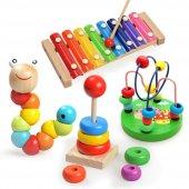 4lü Montessori Eğitim Ahşap Oyuncak Müzik Renk Ve Şekil Öğrenme