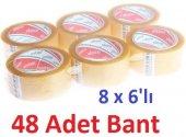 Ecotape Koli Bandi Seffaf 45mmx100mt (8 X 6lı 48 Adet)