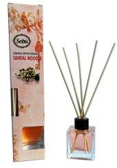 Sandal Ağacı Bambu Çubuklu Egzotik Kare Şişe Ortam Kokusu