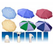 Bahçe Şemsiyesi Plaj Şemsiye 200 cm Katlanır Şemsiye Gölgelik
