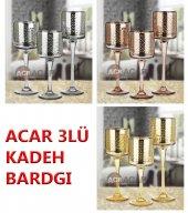 Acar 3lü Cam Kadeh