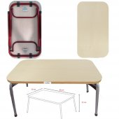 Ecowood Katlanır Dikdörtgen Kontraplak Piknik Masası 50x80cm