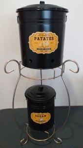 2 Katlı Ferforje Patates Soğanlık