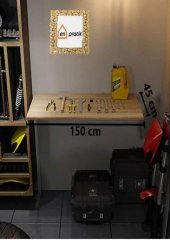 Katlanır Masa Açılır Kapanır Duvara Monte Çalışma Masası 45*150