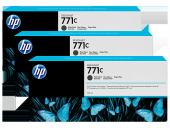 Hp 771c 3 Pack 775 Ml Matte Black Designjet Ink Ca...