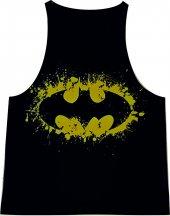 Batman Siyah Fitness Atlet Tank Top Dijital...
