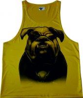 Bulldog Sporcu Atleti Fitness İllustrator Dijital Baskı