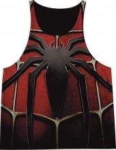 Spiderman Kırmızı Fitness Atlet Tank Top Dijital Baskı