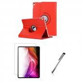Ipad Pro 11 İnç Kırmızı Tablet Kılıfı Seti, Ekran Koruyucu Ve Tablet Kalemi İle Birlikte