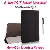 iPad 9.7 6. Nesil Smart Case A1893 A1954 Siyah Tablet Kılıfı
