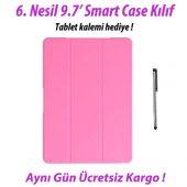 Ipad 9.7 6. Nesil Smart Case A1893 A1954 Pembe Tablet Kılıfı