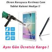 Galaxy Tab T560 Ekran Koruyucu Kırılmaz Cam (Kalem Hediye)