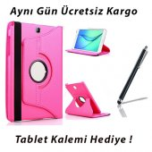Samsung Galaxy Tab E T560 Pembe Tablet Kılıf (Kalem Hediyeli)