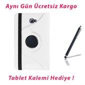 Galaxy Tab A P580 Standlı Beyaz Tablet Kılıfı (Kalem Hediye)