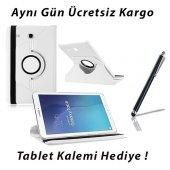 Samsung Galaxy Tab E T560 Beyaz Tablet Kılıf (Kalem Hediyeli)