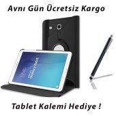 Samsung Galaxy Tab E T560 Siyah Tablet Kılıf (Kalem Hediyeli)