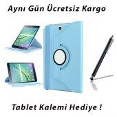 Samsung Galaxy Tab E T560 Mavi Tablet Kılıf (Kalem Hediyeli)