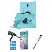 Galaxy Tab A Sm T590 T595 10.5 Mavi Tablet Kılıfı Seti