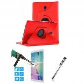 Galaxy Tab A Sm T590 T595 10.5 Kırmızı Tablet Kılıfı