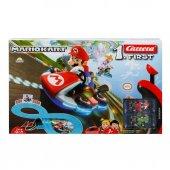 Mario Yarış Pisti Seti Go Kart 240 Cm Kumandalı Slot Araba Set