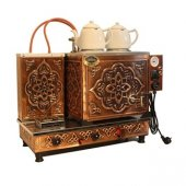 Tiryaki 2 Demlikli Bakır Çay Kazanı