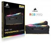 Corsair Vengeance RGB PRO 16GB(2x8GB) 3000Mhz DDR4 CMW16GX4M2C3000C15 Bellek Siyah
