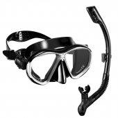 Vertex Gri Yetişkin Şnorkel Set
