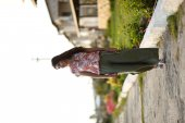 Kiremit Rengi Yapraklı Bluz