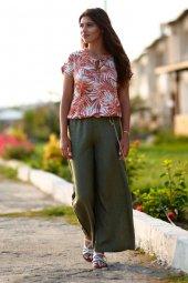 Yeşil Yazlık Pantolon-2