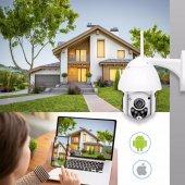 IP Güvenlik Kamerası Gece Görüşlü Dış Mekan PTZ 1080p Speed Dome-5