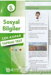 5.sınıf Sosyal Bilgiler Yaprak Test