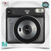 Fujifilm Instax Kare SQ6 Fotoğraf Makinesi (GRİ)