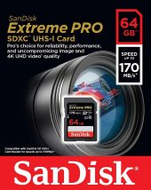 Sandisk Extreme Pro 64gb Sd Hafıza Kartı 4k U3 V30 170mb S