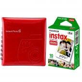 Fuji İnstax 7 8 9 25 70 90 İçin 10'lu Film+64 'lük İnstax Albüm