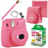 Instax Mini 9 Makine +çanta + Albüm +20 Li Film (Pembe)