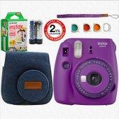 Fujifilm İnstax Mini 9 + Askı+ Çanta+20'li Film (Mor)