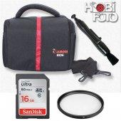 Canon 7d Mark Iı İçin Set Çanta+16 Gb Sd Class...