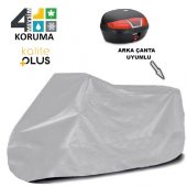Kymco Super 8 50  Arka Çanta Uyumlu Motosiklet Örtü Branda KalitePlus -2