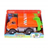 turuncu çöp kamyonu oyuncağı