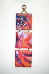 Dekoratif 3 Lü Mdf Kanvas Tablo 20x20