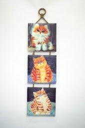 Dekoratif 3Lü Mdf Kanvas Tablo 20x20