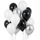 Gümüş Siyah Balon Demeti