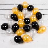 Gold Siyah Renkler Mini Balon Paketi