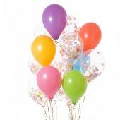 Pastel Gökkuşağı Konfeti Balonu