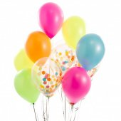 Renkli Renkler Konfeti Balonu