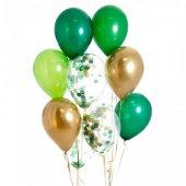 Vahşi Doğa Renkleri Konfeti Balonu