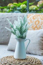2li Beyaz Lavanta Provence Yapay Çiçek