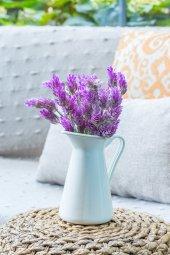 2li Pembe Lavandula Yapay Akdeniz Çiçek