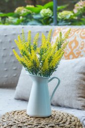 2li Sarı Lavanta Provence Yapay Çiçek